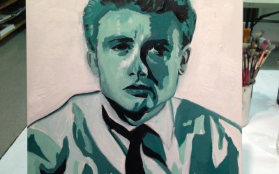 Portrait of James Dean