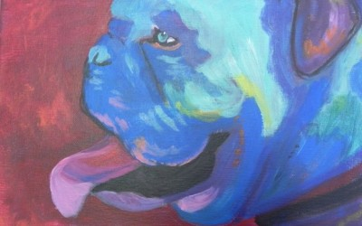 Nora's dog painting