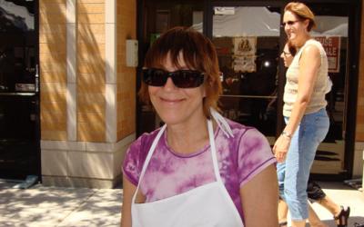 Judy at the street fair!